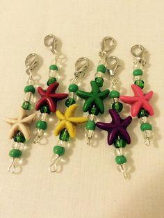 Starfish Crochet Stitch Markers Set of 6 by fantasticfiberz