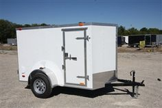 Continental Cargo Trailers - Value Hauler Wedge - 5' x 8' Aluminum Enclosed Cargo Trailer - V Nose  Model: VHW58SA