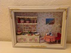 Roombox  Teatime  von MiniMagicDreams auf Etsy, €26.50