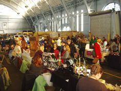 Handmade Arcade was located at the Hunt Armory in 2008 and 2009 and took 2010 off to look for the perfect venue to accommodate the crowds! To make up for it, 2011 included both a spring and a fall show.