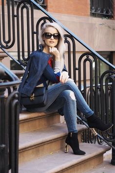 Why your Wardrobe Needs a Suede Biker Jacket - Inthefrow
