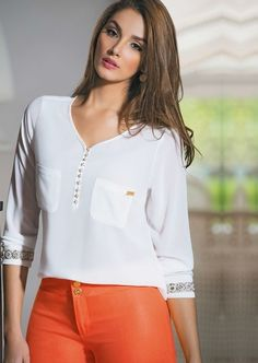 Ruffle Blouse, Saree, Street Style, Chic, Womens Fashion, How To Wear, Shirts, Sadie Hawkins, Clothes