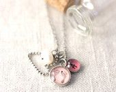 Your baby's ACTUAL hand or footprints  - 12 mm Custom foot or hand print charm