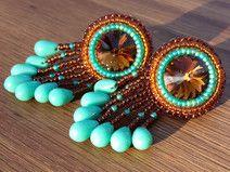 """Ohrringe """"Indian Spirit"""" / Perlenstickerei"""