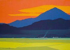 Masayasu Uchida t Japanese Art Modern, Japanese Artwork, Japanese Landscape, Japanese Painting, Japanese Prints, Chinese Painting, Chinese Art, Landscape Illustration, Watercolor Landscape