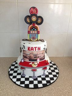 60's Rock n Roll Diner  Cake by CakesbyCorrina