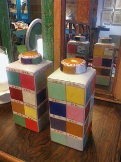 divertidos jarrones de colores!