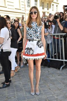 Olivia Palermo at Dior Haute Couture. See all the celebs at Paris Couture Week.