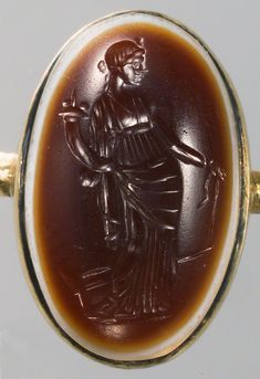 Roman, Republican third quarter of the century BC, Sardonyx. Antique Rings, Antique Gold, Kunsthistorisches Museum Wien, Gold And Silver Rings, 1st Century, Ancient Rome, Byzantine, Planer, Gemstones