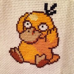 Psyduck #pokemon #psyduck #crossstitch