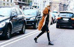 Street looks à la Fashion Week automne-hiver 2015-2016 de Milan