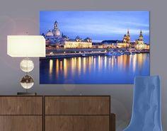 #Leinwandbild Canaletto-Blick bei Nacht #Dresden  #Skyline #Skylines #Traumstadt #Urbanes #Flair #City #Life #Großstadt #Feeling #Wandgestaltung #Deko #Bilder