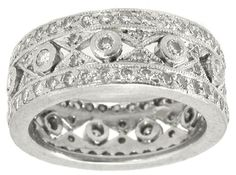 Edwardian__Style_2.00ct__Round_Diamond_Eternity_Wedding_Band   New York Estate Jewelry   Israel Rose