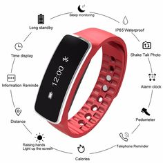 Women Smart Watch Fitness Calories Pedometer Multi-Functions Sports Watches Bluetooth 4.0 Digital Wristwatches For Android IOS  Price: 35.76 & FREE Shipping  #staysafe #practicesafetyguidlines #fashion|#sport|#tech|#lifestyle Sport Watches, Women's Watches, Fitness Watch, Wristwatches, Smart Watch, Bluetooth, Ios, Android, Shop My
