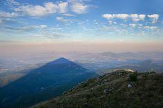 The shadow of Rtanj mountain