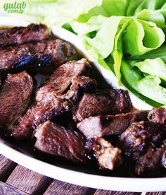 Gulab » Salada com Carne: Bife Marinado