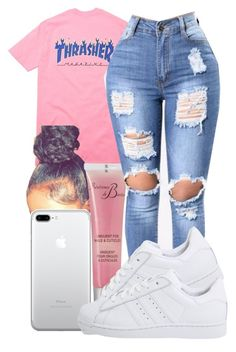 A fashion look from March 2017 by pimpcessjayyy featuring Révérence de Bastien and adidas Originals Swag Outfits For Girls, Lit Outfits, Cute Swag Outfits, Teenage Girl Outfits, Cute Comfy Outfits, Cute Outfits For School, Teen Fashion Outfits, Teenager Outfits, Dope Outfits