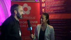 Kim Do interviewt Rob Speekenbrink. Event #festivak met eigen SocialMedia.nl keynote zaal in de Jaarbeurs Utrecht