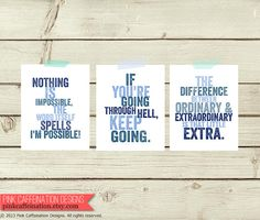 motivation charts for exercise | Motivational Quotes Art Print. Workout Motivation. Exercise Motivation ...