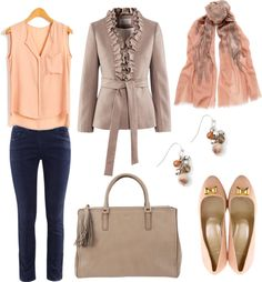 """""""Gold...Peach"""" by mitika1980 on Polyvore"""