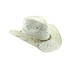 White Straw Cowboy Hat for Women - Shapeable Brim Vamuss http://www.amazon.com/dp/B00KSOQ4EO/ref=cm_sw_r_pi_dp_qfexub0M1YZDH