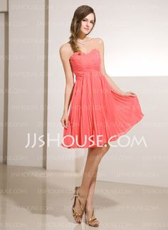 Homecoming Dresses - $119.99 - A-Line/Princess Sweetheart Short/Mini Chiffon Charmeuse Homecoming Dresses With Ruffle Beading (022014232) http://jjshouse.com/A-line-Princess-Sweetheart-Short-Mini-Chiffon-Charmeuse-Homecoming-Dresses-With-Ruffle-Beading-022014232-g14232
