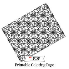 Petal Madness Printable Coloring Page #9 - Terry McClary   | Adult Coloring Page   | Coloring Printable | coloring pages