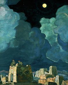 Nicholas Roerich, Mekheski - Moon People, 1915,  State museum of fine arts of Tatarstan Republic