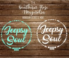 Jeep Decals Jeepsy Soul Decal Jeep Window Decal Car Decals