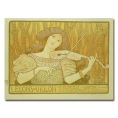 Paul Brethon 'Violin Lessons Rue Denfert-Rochereau' Canvas Art by Trademark Fine…