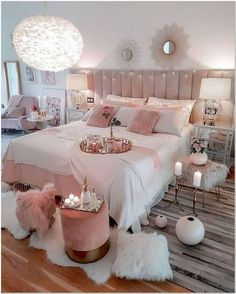 47 very beautiful and comfortable bedroom decor ideas 40 Dream Bedrooms Beautifu. - 47 very beautiful and comfortable bedroom decor ideas 40 Dream Bedrooms Beautiful Bedroom Comfortab - Teen Bedroom Designs, Bedroom Decor For Teen Girls, Cute Bedroom Ideas, Room Ideas Bedroom, Dream Bedroom, Master Bedroom, Bedroom Setup, Cosy Bedroom, Bedroom Wardrobe