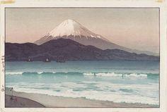 Fujiyama from Miho - by Yoshida Hiroshi