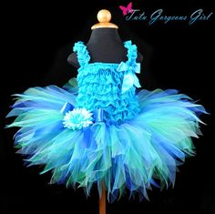 Turquoise Green Blue Tutu...Flower Girl by TutuGorgeousGirl