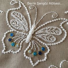 how to do brazilian embroidery stitches Crewel Embroidery Kits, Embroidery Stitches Tutorial, Embroidery Flowers Pattern, Butterfly Embroidery, Embroidery Transfers, Embroidery Patterns Free, Silk Ribbon Embroidery, Hand Embroidery Designs, Vintage Embroidery