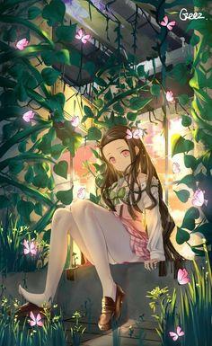 Kamado Nezuko [Demon Slayer: Kimestu no Yaiba] - Animewallpaper Yandere Manga, Chica Anime Manga, Anime Neko, Otaku Anime, Anime Girl Cute, Kawaii Anime Girl, Anime Art Girl, Manga Art, Fan Art Anime