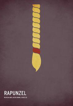 Rapunzel- minimalist poster