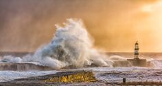 Storm hitting Seaham Pier this morning