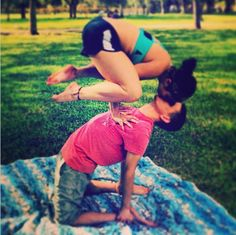 so i need my man to be strong AND flexible..;) cute /// Look at the muscles in her legs
