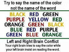 Brain test ... try it ... NOT  so easy, is it?