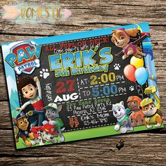 Having a Paw Patrol birthday party?! Looking for cute Paw Patrol birthday party ideas? First things first, you've got to have the adorable Paw Patrol invitations to match t...