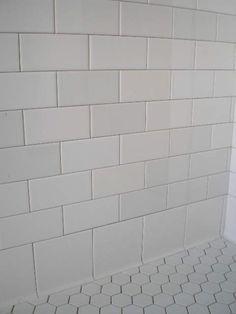 subway tile - a blend of whites