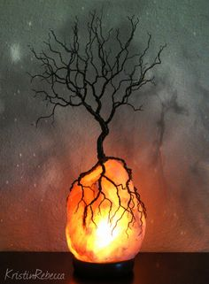 Tree of Life Lighted Wire Sculpture Himalayan Salt Lamp Tree Sculpture