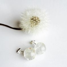 This perfect will resin orbs contain tiny little dandelion seeds. They are like mini wishes for your ears! Set on Sterling Silver Stud backsCome in a gift box.