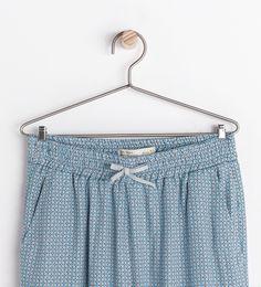 Pantalon fluide imprimé - Pantalons - Fille - COLLECTION AH14 | ZARA France