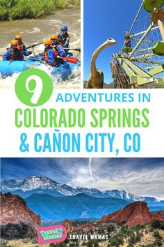 For outdoorsy adventures with beautiful scenery, book a trip to Colorado Springs and Cañon City. Ropes courses, whitewater rafting, dinosaur bones and more await your family in these beautiful Colorado vacation spots. #coloradosprings #canoncity #colorado #adventuretravel #travelwithkids