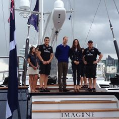 Day 5: Auckland harbour - photograph with Dean Barker and Grant Dalton - taken by Governor-General
