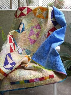 Traditional Broken Dishes Pattern Lap Quilt or Sofa Throw Batiks Quilting Projects, Quilting Ideas, Half Square Triangles, Sofa Throw, Quilt Patterns, Projects To Try, Hourglass, Virginia Reel, Dishes