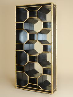 """TOP PICK BY LISA FERGUSON INTERIOR DESIGN  """"I love the almost sculptural lines of this piece. It doesn't even need anything on it! And the black brass combo!""""      Henredon Furniture - http://www.henredon.com The Revenel Bookcase, from the new Celerie Kemble for Henredon collection."""