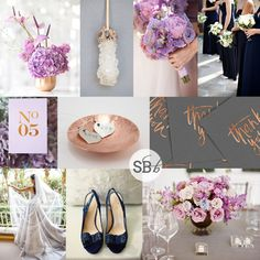Lilac, Copper, Grey & Navy Inspiration Board | SouthBound Bride