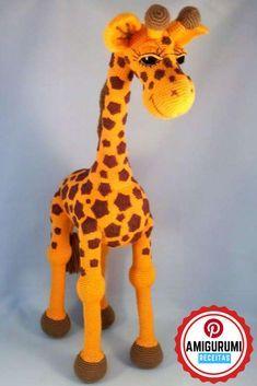 Amigurumi Girafinha - Receita Amigurumi Girafinha - Amigurumi Receitas Passo a Passo em Português #amigurumigirafinha #girafaamigurumi #amigurumireceitas #receitaamigurumi #amigurumireceitaemportugues Giraffe Crochet, Crochet Animals, Crochet Patterns Amigurumi, Crochet Toys, Pdf Patterns, Dinosaur Stuffed Animal, Projects To Try, Deco, Crafts